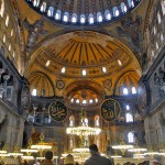One of the most fascinating things about Hagia Sophia is the peaceful coexistence of both the Christian and Islamic faiths. Loved seeing Jesus next to Allah written in Arabic.