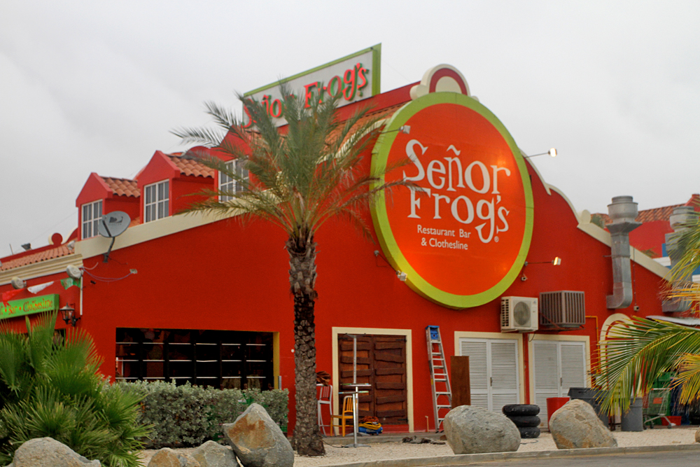Senor Frogs is just a few blocks walking from the hotel