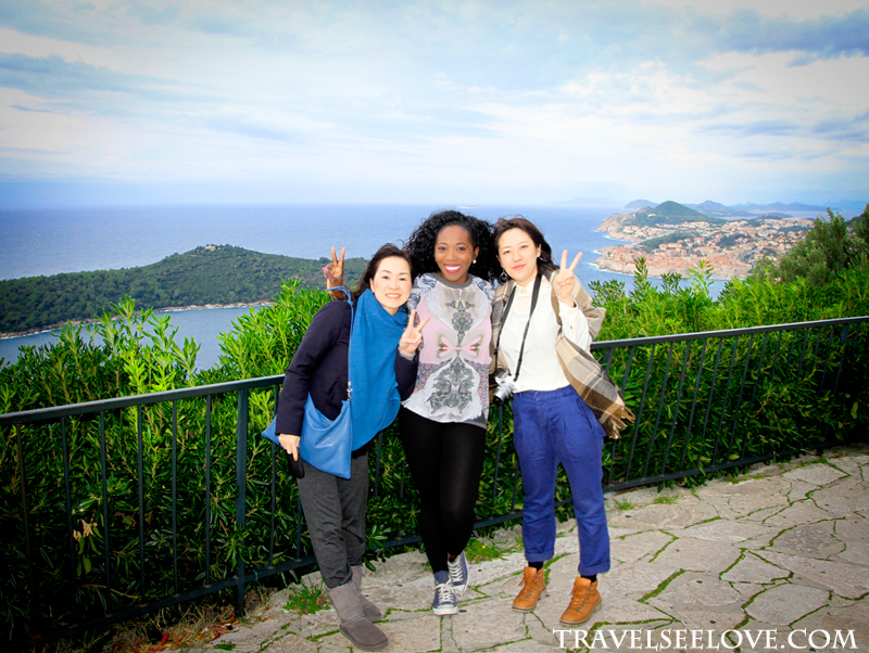 Riu, Aiko and I on our way to Montenegro stopped for a quick snap with a great view of Dubrovnik in the background