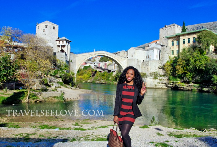 By the Stari Most in Mostar, Bosnia and Herzegovina